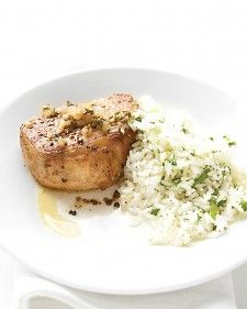 sage pork chops (maybe add a bit of cayenne?)