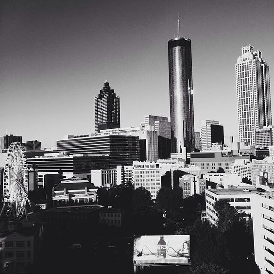 Atlanta in black and white.