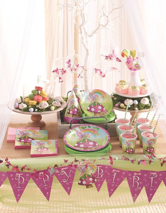 Anniversaire Fille Th Me F E Fairy Birthday Anniversaire F E Fairy Birthday Party Pinterest