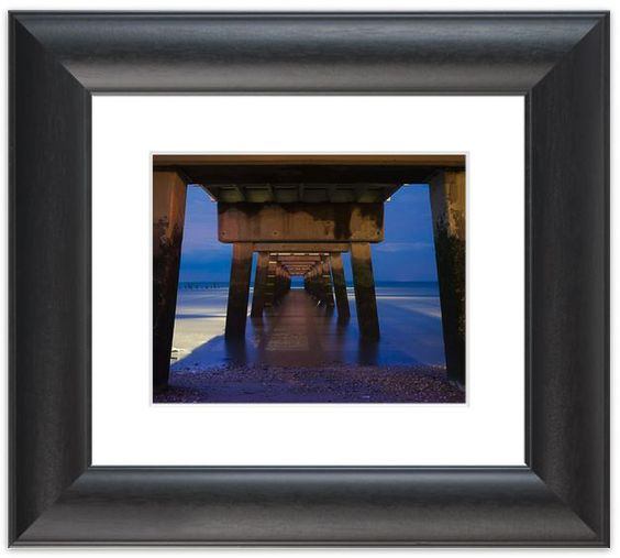 """11"""" x 14"""" Traditional Photography Prints / Wall Décor Landscape Photograph: Under the Pier on the Beach at Night. View all of the stunning Landscape Photos by Nature and Landscape Photographer Melissa Fague at:  https://www.etsy.com/shop/PIPAFineart Limited Edition Fine Art landscape photography prints and canvas wraps are also available in a variety of sizes."""