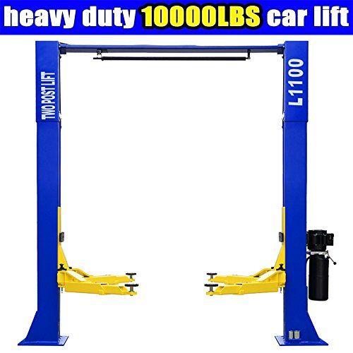 L1100 Car Lift 10 000lbs 2 Post Lift Car Auto Truck Hoist W Overhead Sensor Bar 220volt Lifted Cars Car Lifts Car Hoist