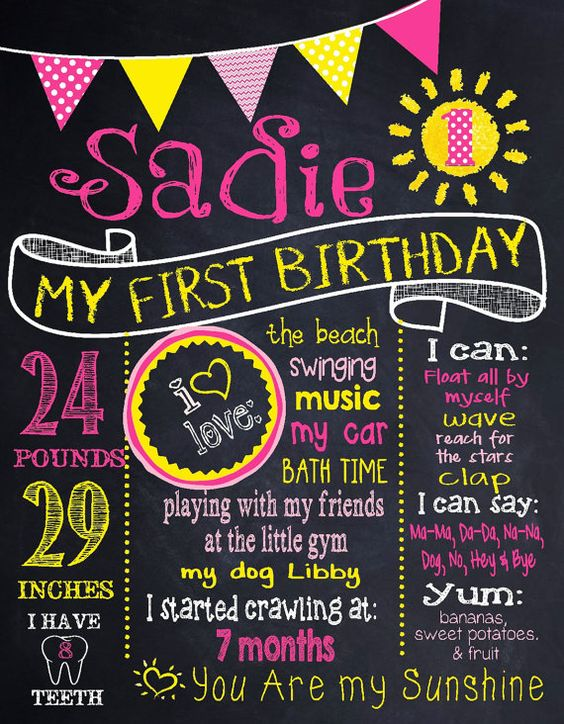 You are my sunshine first Birthday sign by MichelleRayeDesigns