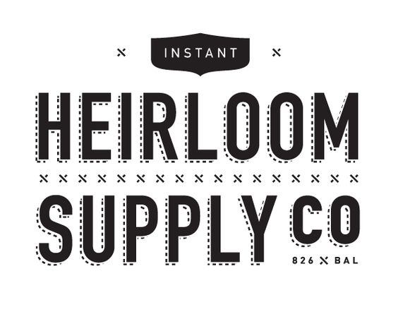 Heirloom Supply Co / Andy Mangold #logo