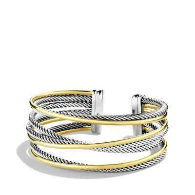 Crossover Four-Row Cuff with Gold-David Yurman