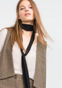 Zara skinny scarf    trufflesandtrends.com
