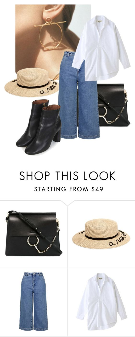 """""""spring"""" by lilylike ❤ liked on Polyvore featuring Hermès, Chloé, Eugenia Kim, Topshop and Enföld"""