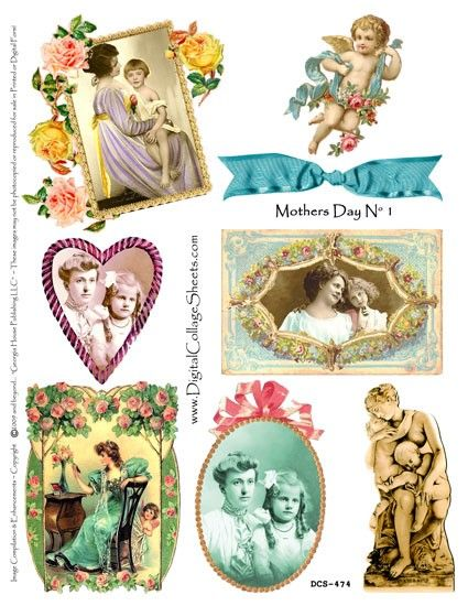 Instant Download Mothers Day Collage Sheet by DigitalCollageSheets,