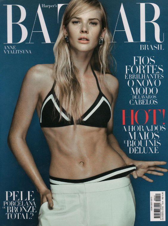 Anne Vyalitsyna for Harper's Bazaar Brasil 2012 December Cover
