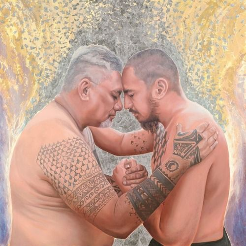 Image result for touching foreheads paintings