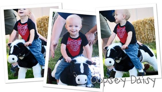 cowboy bandana onesie @ oopsey daisy to make for cadons cowboy party?
