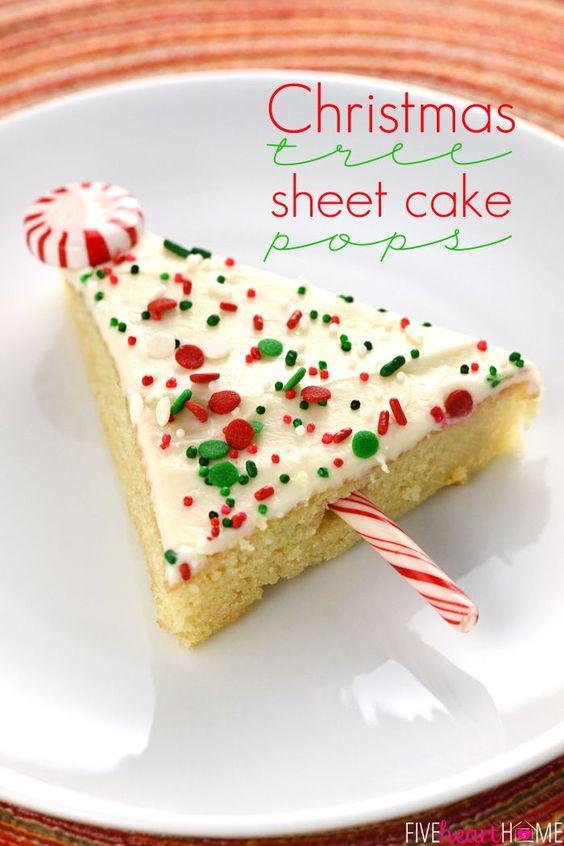 Christmas Tree Brownie Pops Recipe Trees, Vanilla sheet cakes