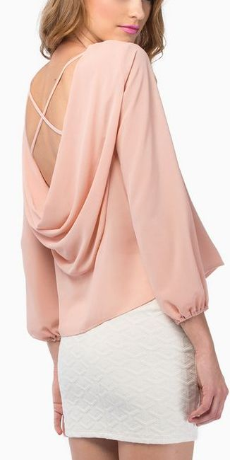 cowl back blouse