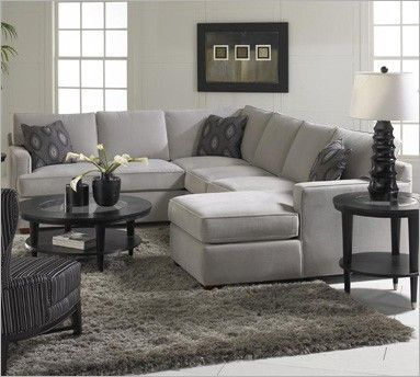 Loomis Belsire Grey Sectional | Klaussner Furniture- like w/o chaise - maybe another color