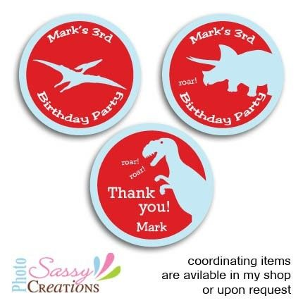 dinosaur party stickers  c