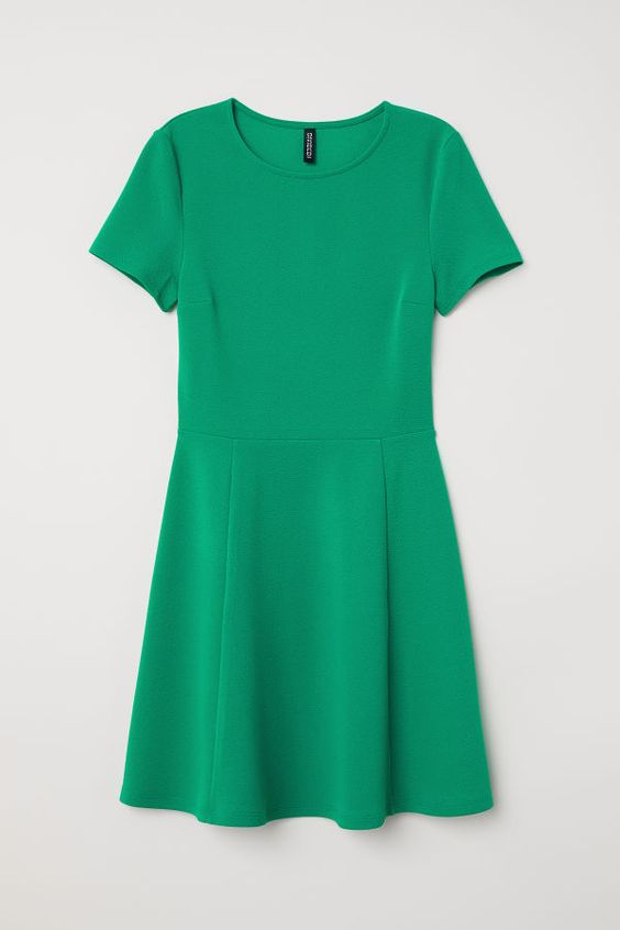 Jersey Dress | Bright green | WOMEN | H&M US