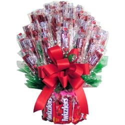 Twizzler Bouquet: Gift Baskets, Candy Baskets, Candy Gift, Gift Ideas, Twizzler Ideas, Crafts With Twizzlers, Twizzlers Bouquet, Candy Bouquets Ideas, Twizzlers Ideas