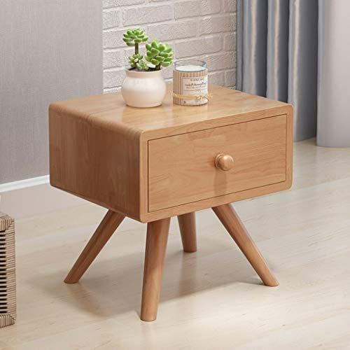 Bedside Table Gjm Shop Pure Rubber Solid Wood Simple Modern With Drawer Storage Cabinet Bedroom Furniture Color Colorful Furniture Pure Products Solid Wood