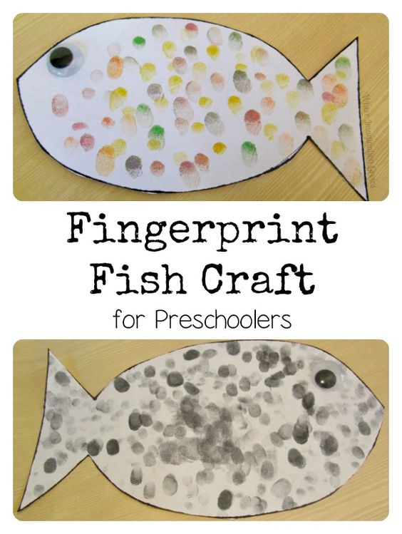 Fish crafts fingerprints and fish on pinterest for Fish crafts for preschoolers