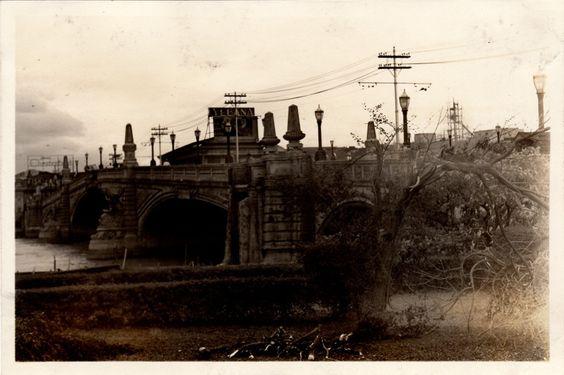 Jones Bridge photo after a typhoon. Circa 1930