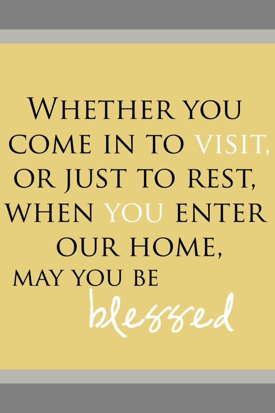 Love this for our guest bedroom in our new house!     FREE PRINTABLE available in different shades - Whether you come in to visit, or just to rest, when you enter our home, may you be blessed.: