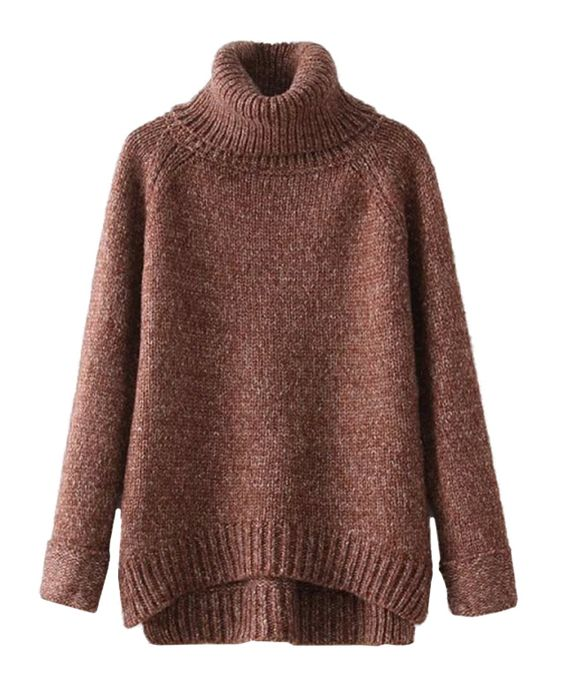 Vintage High Collar Knitwear