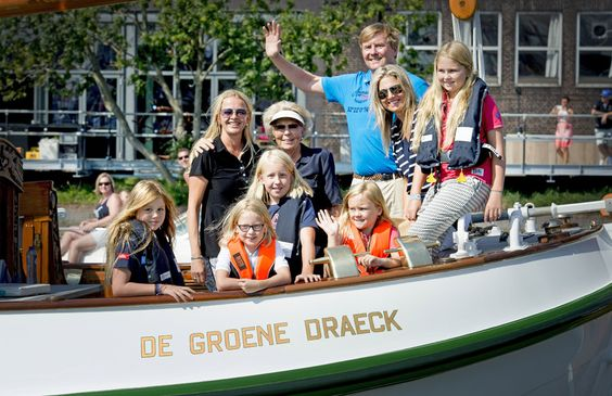 MyRoyals: Dutch Royals Attended SAIL Amsterdam, August 22, 2015-front-Princess Alexia, Countess Zaria, Countess Luana, Princess Ariane; back-Princess Mabel, Princess Beatrix, King Willem-Alexander, Queen Maxima, Princess Amalia: