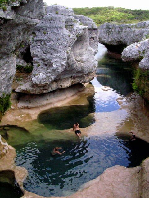 Must go... The Narrows. It is in the Texas Hill Country on the Hays/Blanco County line where a coral reef once thrived in land covered by an ocean that is now dry and frozen in time.  I've never heard of this place.