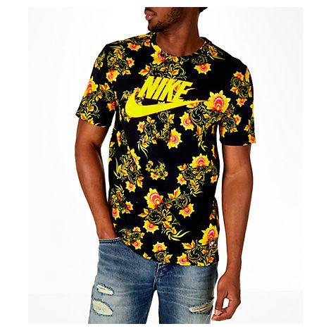 Men's Sportswear Floral T-shirt, Black