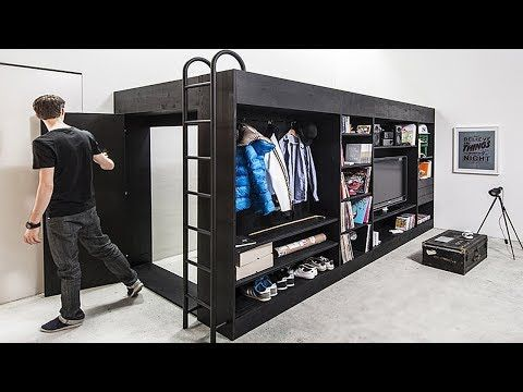 Incredible Bedroom And Space Saving Furniture For Small Spaces Youtube Cube Furniture Furniture For Small Spaces Space Saving Furniture
