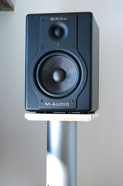 diy speaker stands made from wood and pvc pipes filled. Black Bedroom Furniture Sets. Home Design Ideas