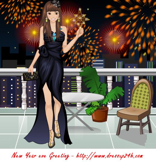 New Year is coming. Let's dress up sparkling costumes. Then count down the seconds and light up the fireworks. >> http://www.dressup24h.com/game/4319/New-Year-eve-greeting.html:
