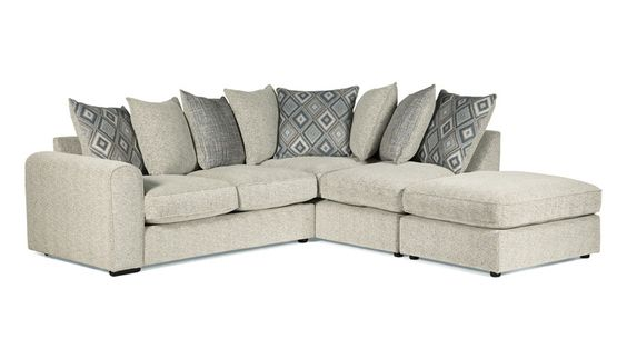 Small Sectional Sofa Monty RHF Corner Group Scatter Back