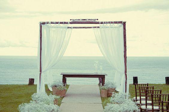 Manoela & Carlos - Casamento na praia de Camburi, SP