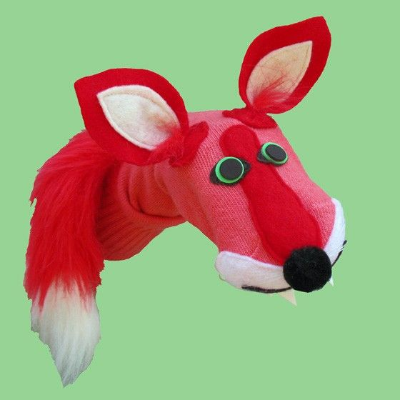 Gorgeous Red Fox Puppet Couture Sock Puppets Red Fox
