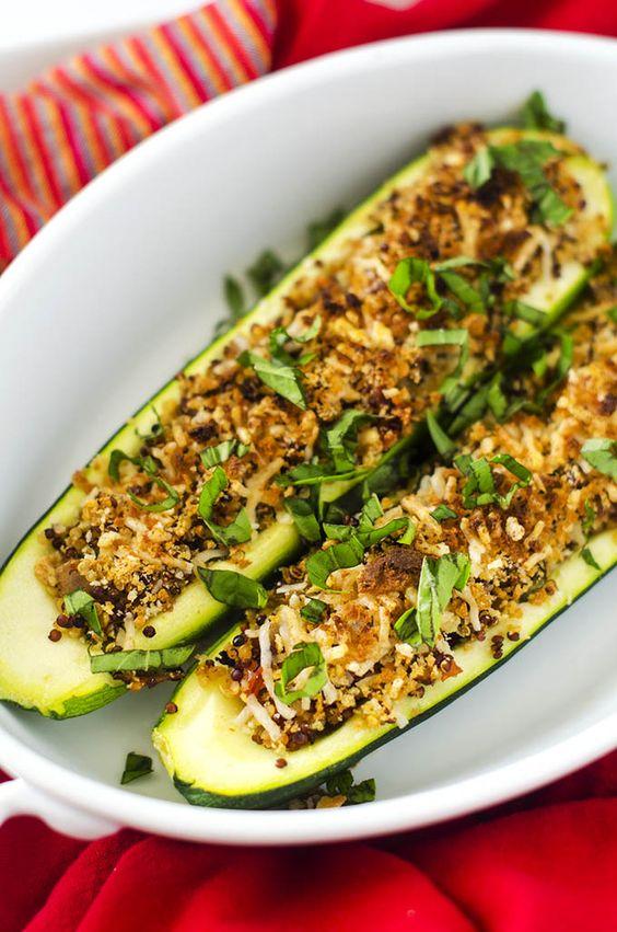 Quinoa Stuffed Zucchini Boats - Cooking Quinoa @udisglutenfree # ...