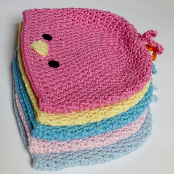 Ravelry: Chirp! Chirp! Tweet! Tweet! Hat Baby Bird, Chick, Bluebird, Cardinal you pick by Darleen Hopkins