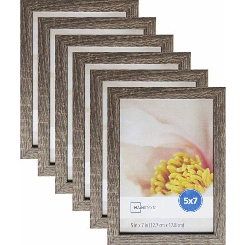 Mainstays Linear 5 X 7 Rustic Frame Set Of 6 Walmart Com Rustic Frames Rustic Picture Frames Rustic Pictures