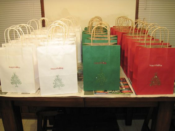 Goodie bags that I made for the Senior Citizens where I use to work ...
