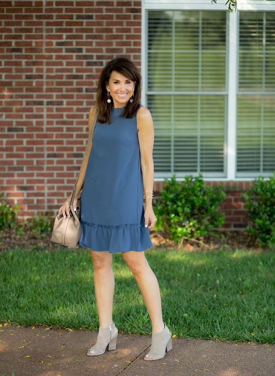 Vestido Soltinho atraente azul