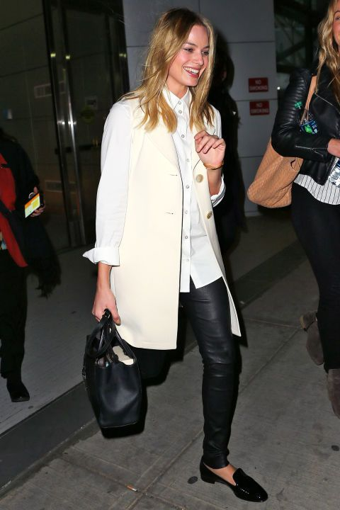 Margot Robbie stuns in simple black loafers. Here are 107 more fashion-forward looks we love to inspire your style::