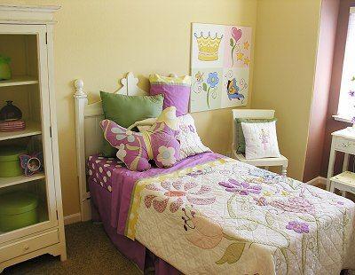 Quarto da menina em roxo & amarelo - Quarto Idéias de decoração para crianças - Dot Com Mulheres