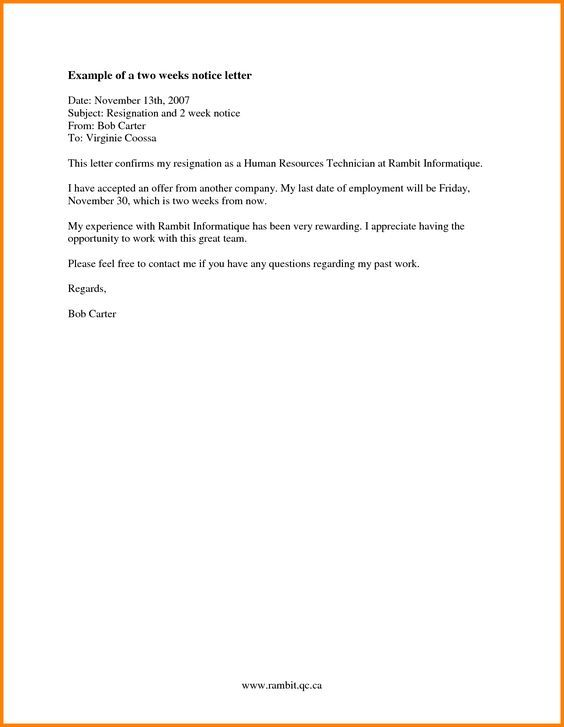 Week Notice Letter Sample Card Authorization Pertaining Weeks