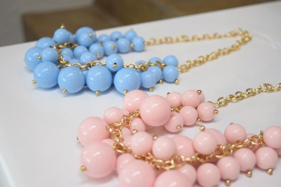 Pantone colors of the year: serenity and rose quartz. Jewelry at Shopaholics.
