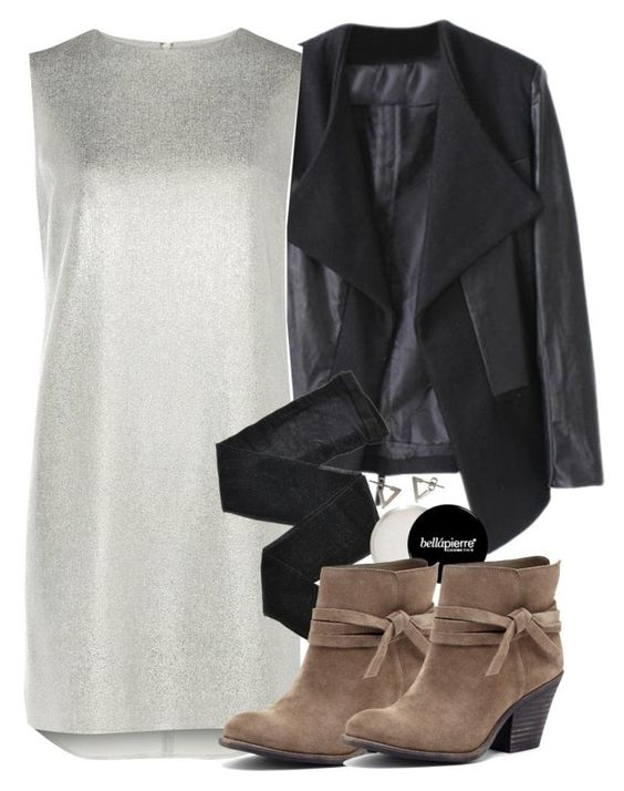 """Malia Inspired Winter Wedding Outfit"" by veterization ❤ liked on Polyvore featuring Dorothy Perkins, Fogal, Sole Society and Mei-Li Rose"