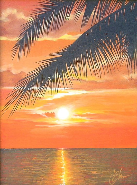 easy beach paintings for beginners - Google Search ...