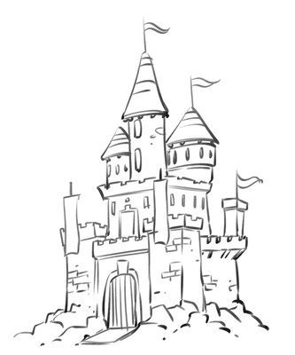 Simple Palace Castle Coloring Pages Cartoon Disney Palace Drawing Just Free Image Castle Drawing Castle Sketch Cartoon Drawings