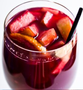 I had this Sangria at one of my BFF's bridal shower back in July. This was the best Sangria I've ever had! :) Here's the recipe: Ingredients/Things You Need: Pitcher – any s…