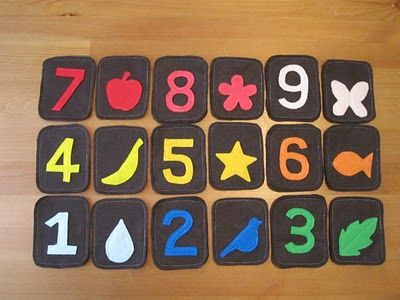 Felt Number Flashcards