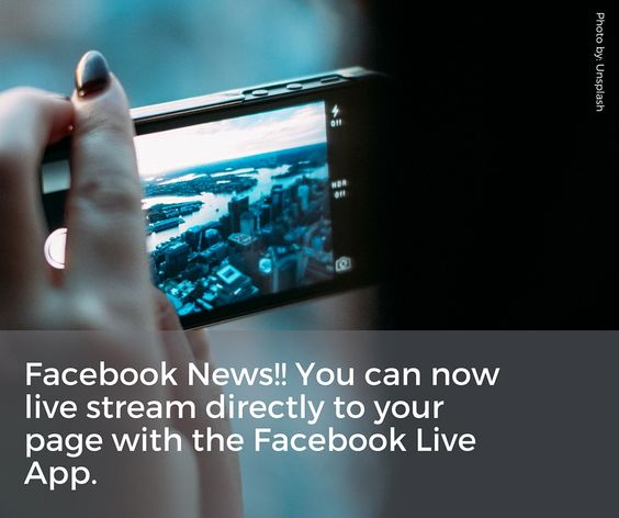 Stream Live Right To Your Facebook Business Page. Amplify Your Online Audience And Gain New Viewers With Facebooks Free Live Streaming App! I wanted you to know if you have an iPhone you can now stream directly to your Facebook Fanpage with the Facebook Live app So at your next meeting, video shoot, etc. Stream…