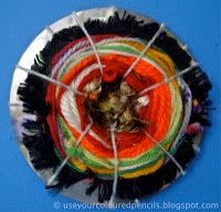 Use Your Coloured Pencils: Weaving on CDs